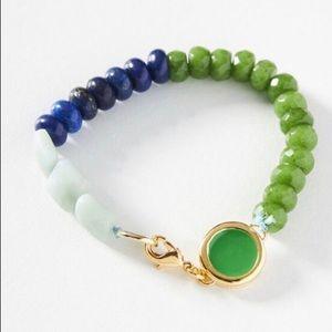 A. Carnevale Simple Beaded Bracelet Blue Motif NWT